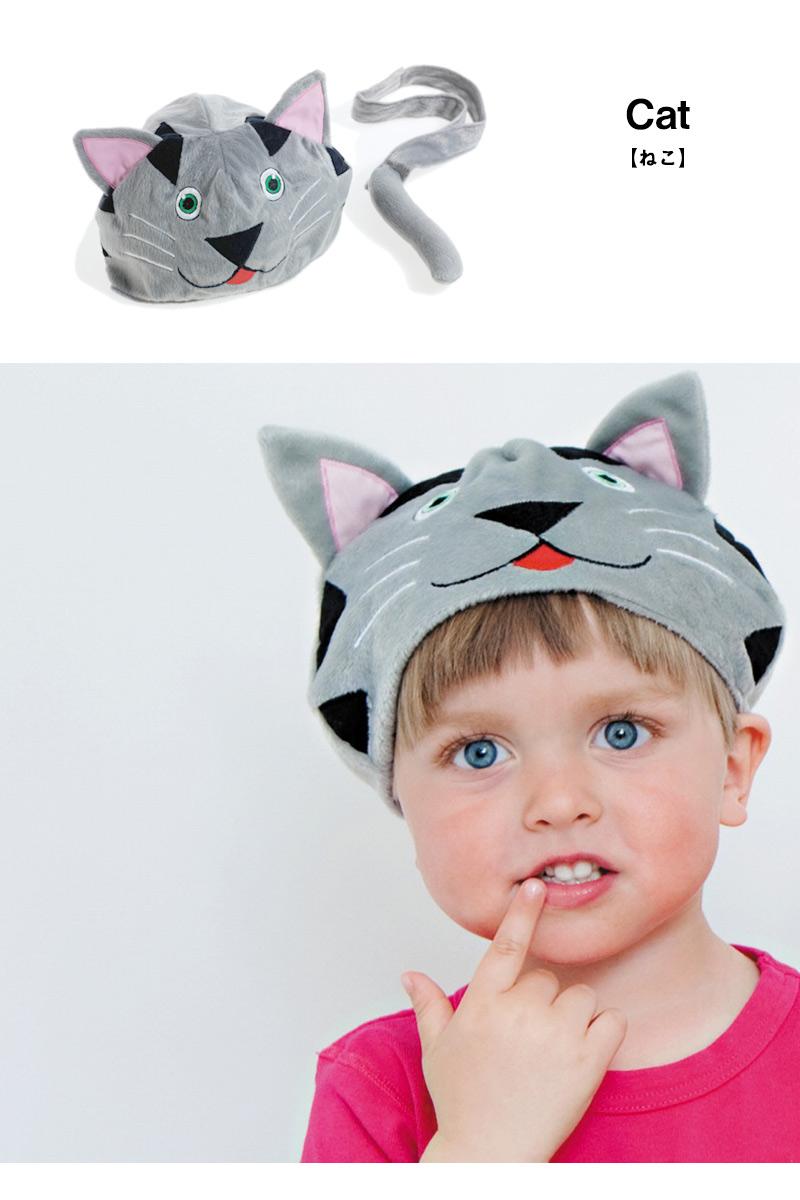 猫のアニマル帽子
