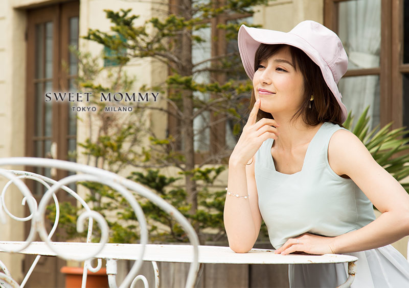 授乳服とマタニティウェアのスウィートマミーが作った多機能UVカットママ帽子
