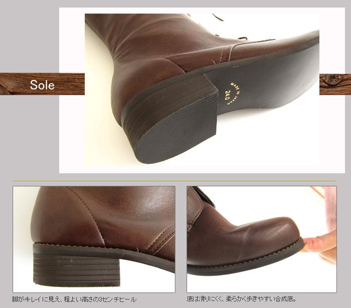 ブーツの底詳細