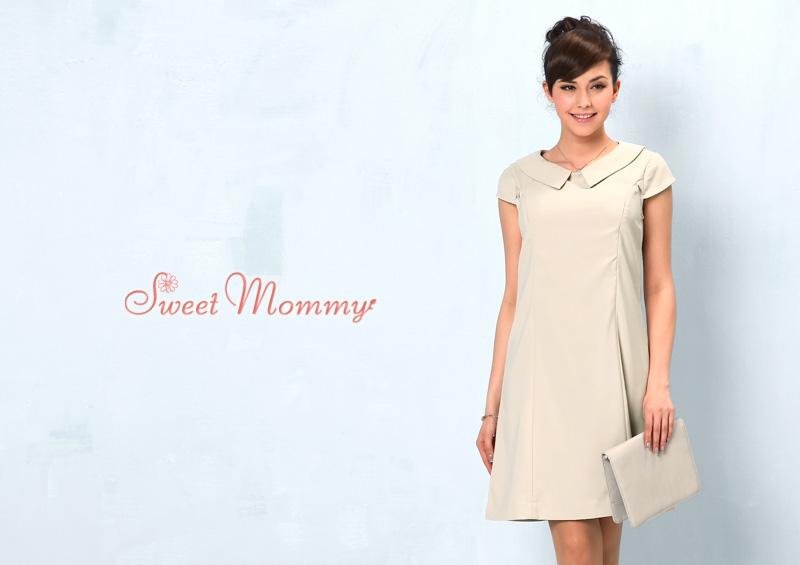 授乳服とマタニティウェアのスウィートマミーがおすすめする清楚なイメージの授乳服ワンピース