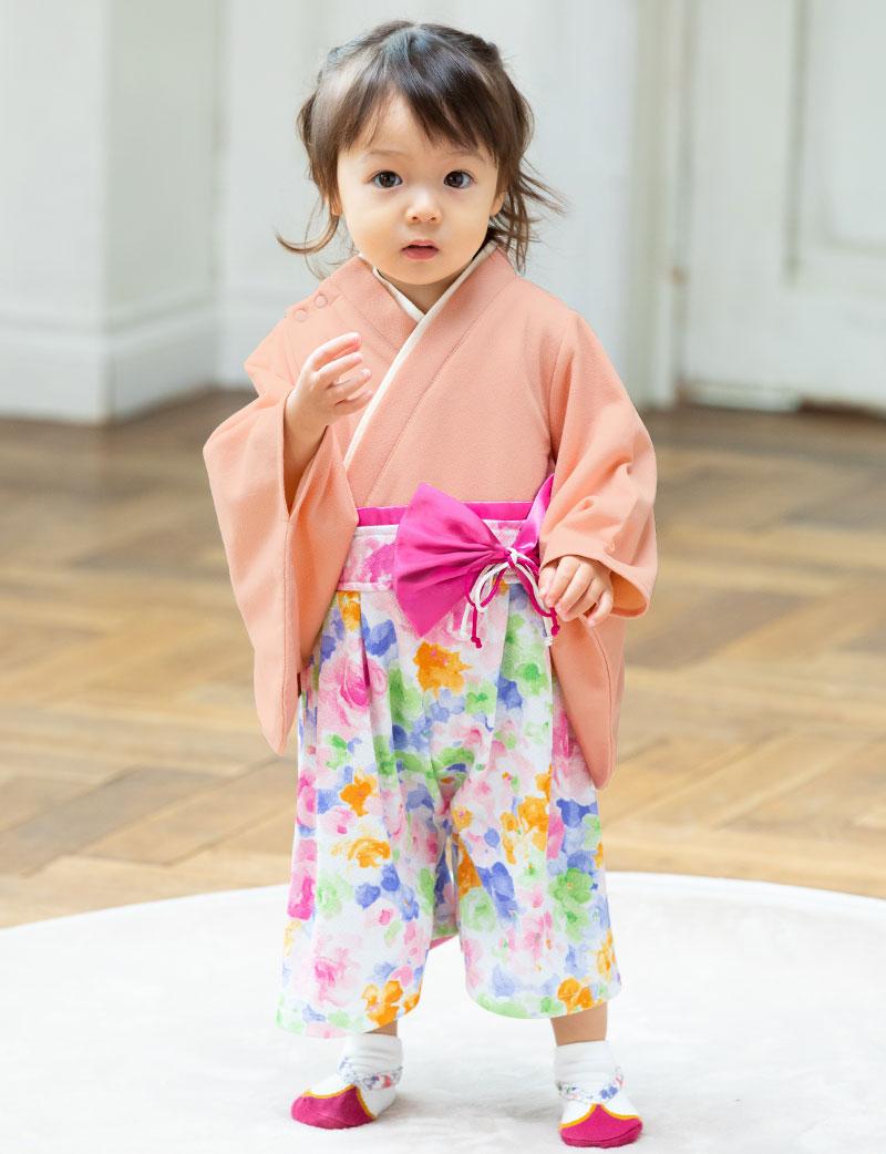 華やかな袴風ロンパース