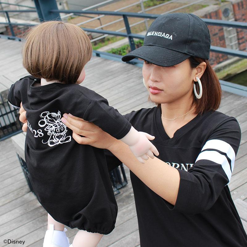 ブラック着用ママとリンクコーデ
