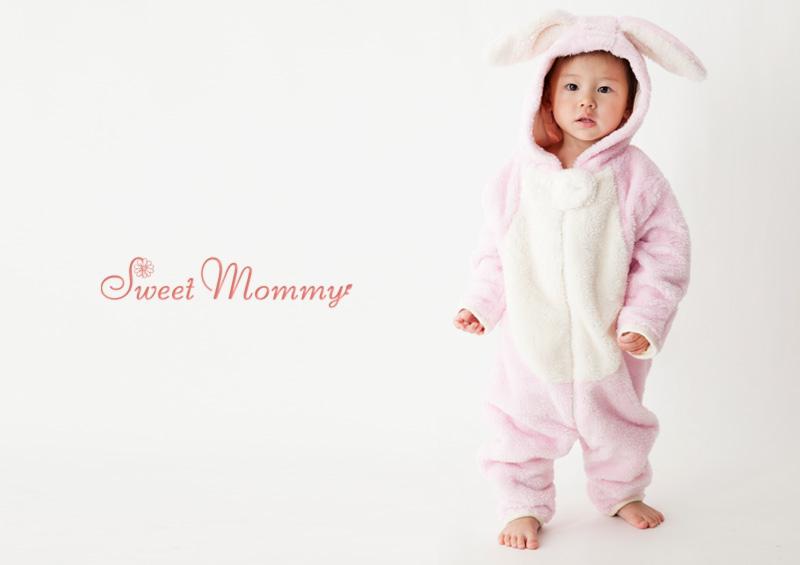 授乳服とマタニティウェアのスウィートマミーがおすすめするうさぎさんジャンプスーツ