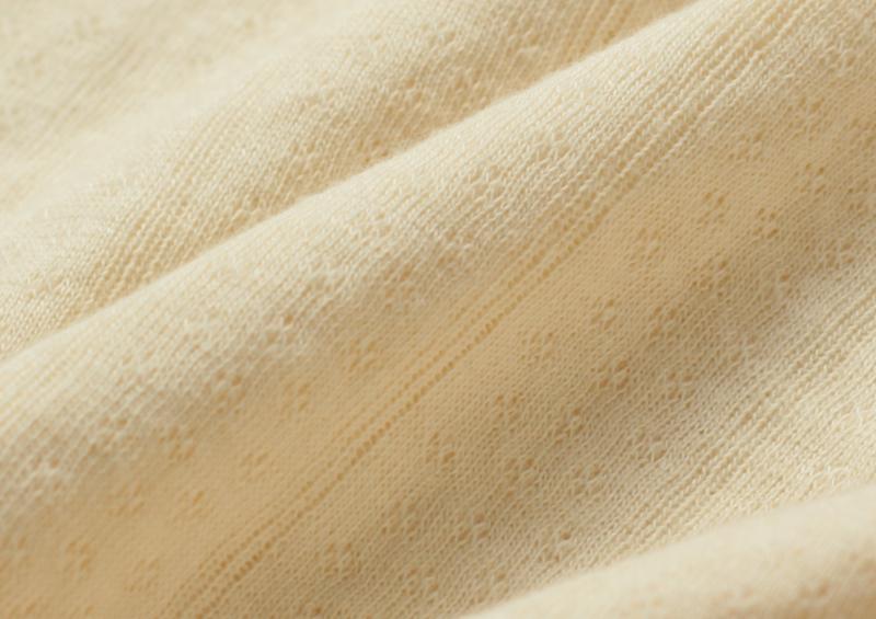 柔らかなオーガニックコットン100%ジャガード素材