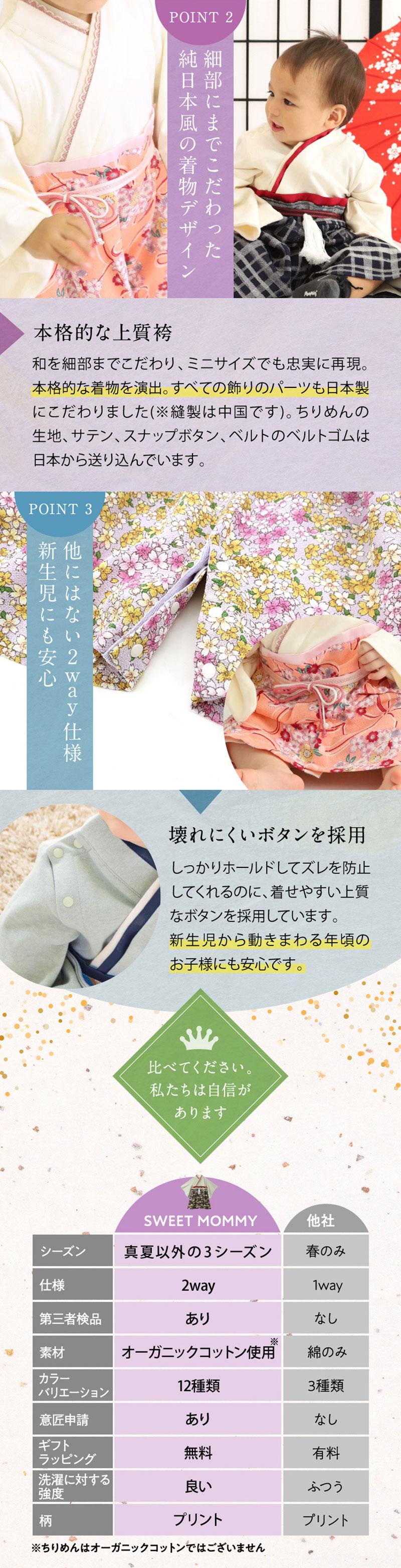七五三 衣装 袴オール 赤ちゃん 新生児 ベビー ベビー服 着物