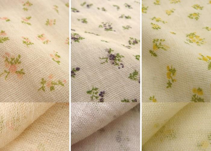 オーガニックコットン小花柄授乳ストール
