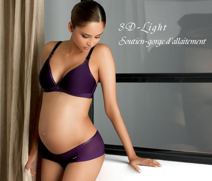 3Dライト ノンワイヤー シームレス バイオレット 授乳ブラ 授乳服/出産準備/大きいサイズ/ブラジャー/インナー/下着