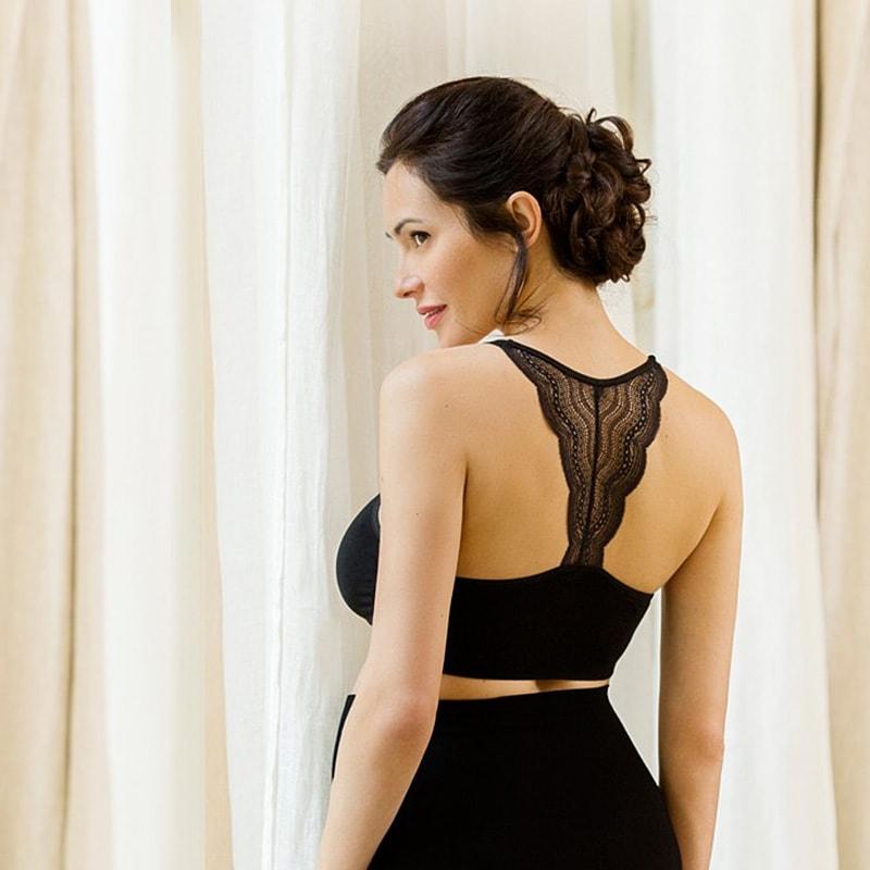 夜でも付けられる シームレス ノンワイヤーハーフトップ授乳ブラジャーのメイン画像