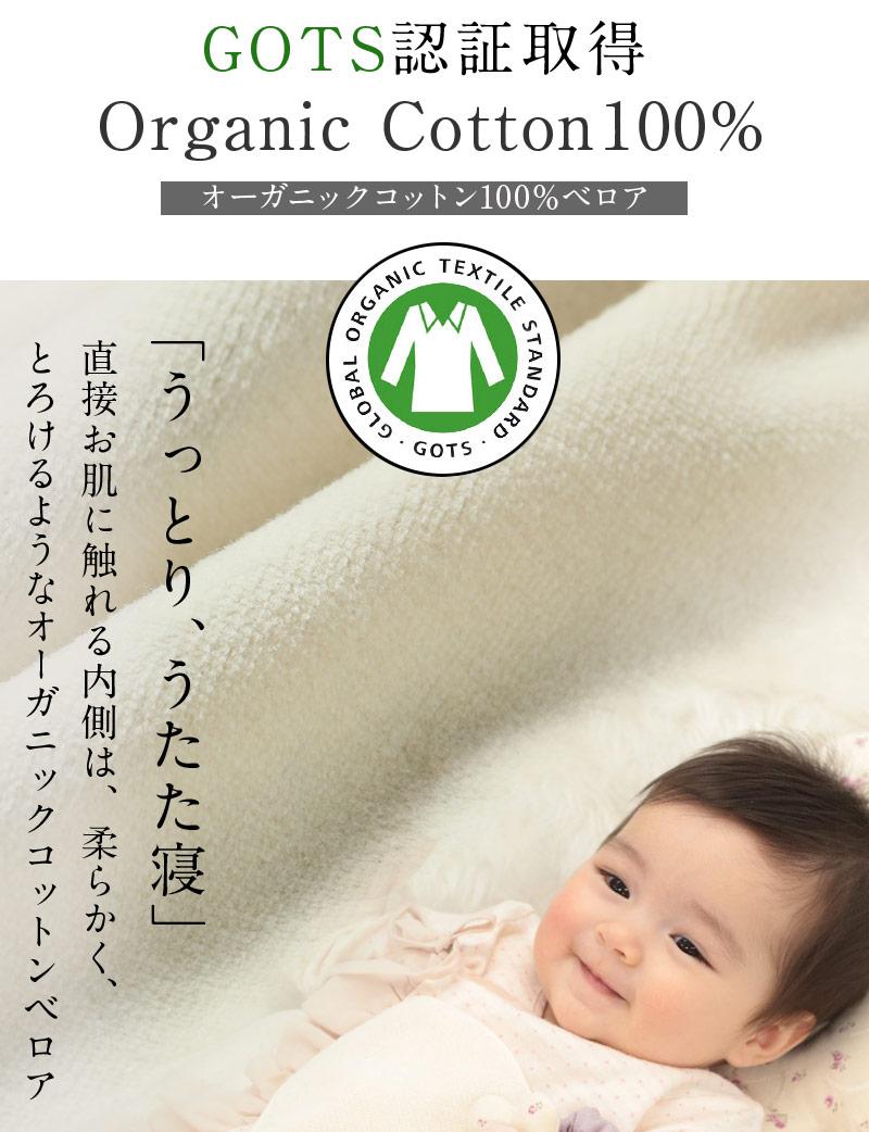 赤ちゃんの為のGOTS認証オーガニックコットンベロア素材