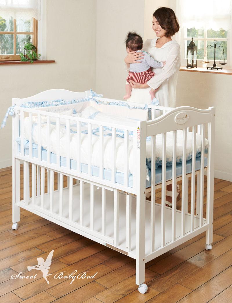 スウィートマミー ベビーベッド 赤ちゃんの使用イメージ