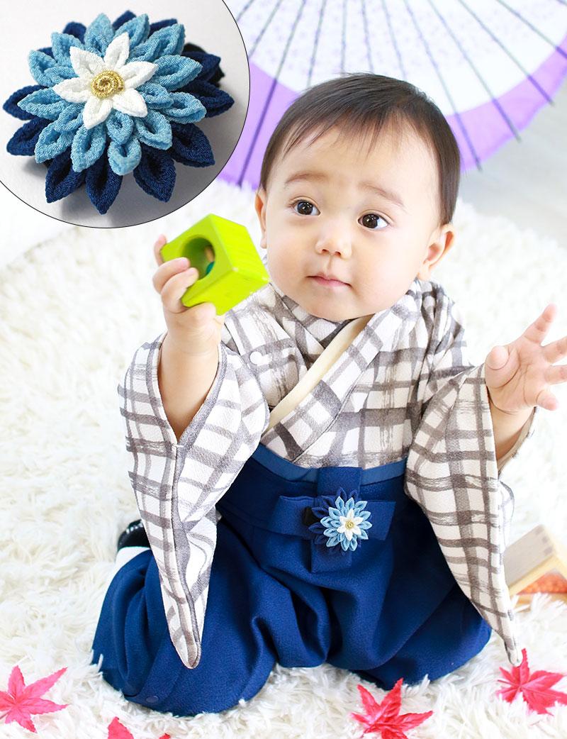 縁起物鶴と段菊の気品ある伝統工芸【日本製】つまみ細工
