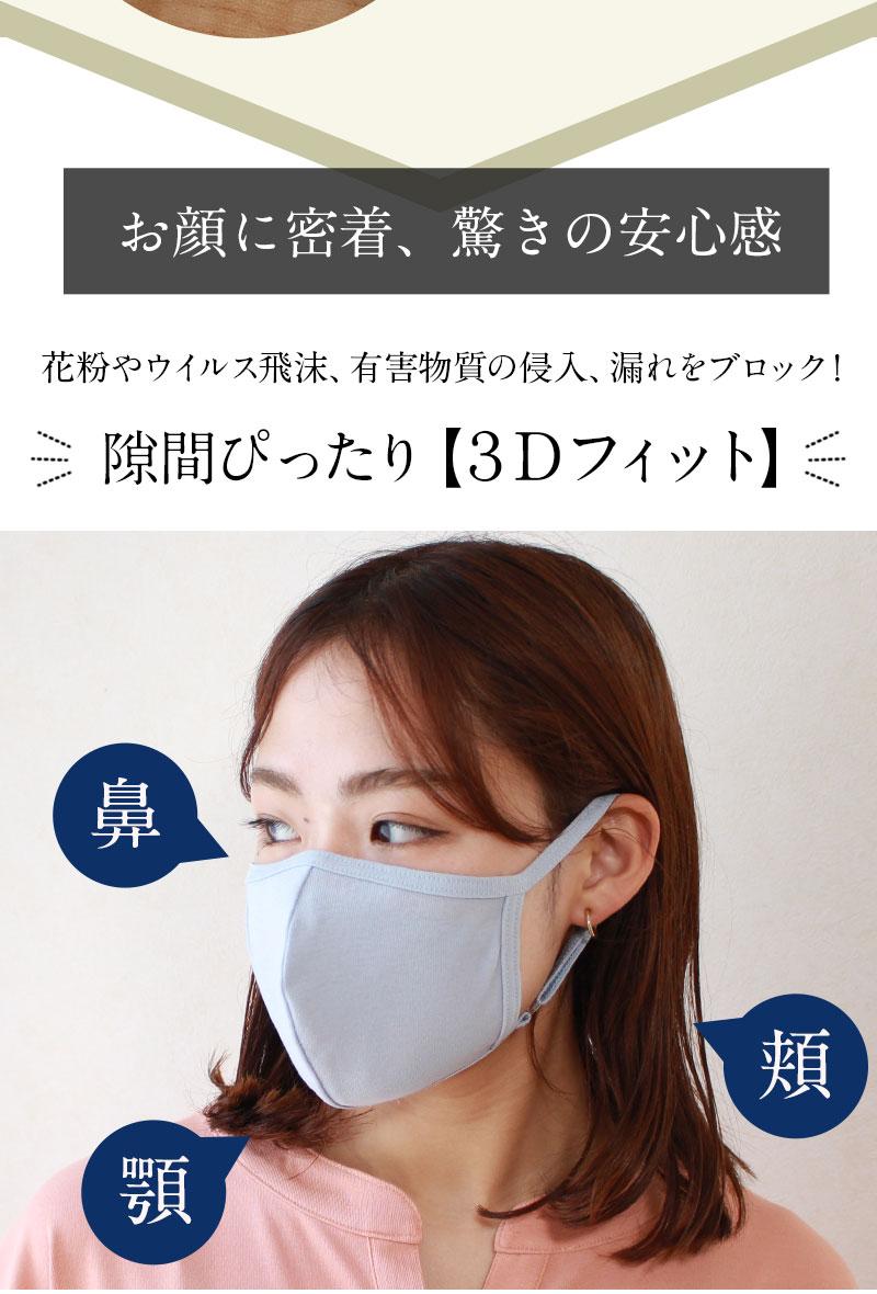 隙間ピッタリ 3Dフィットマスク