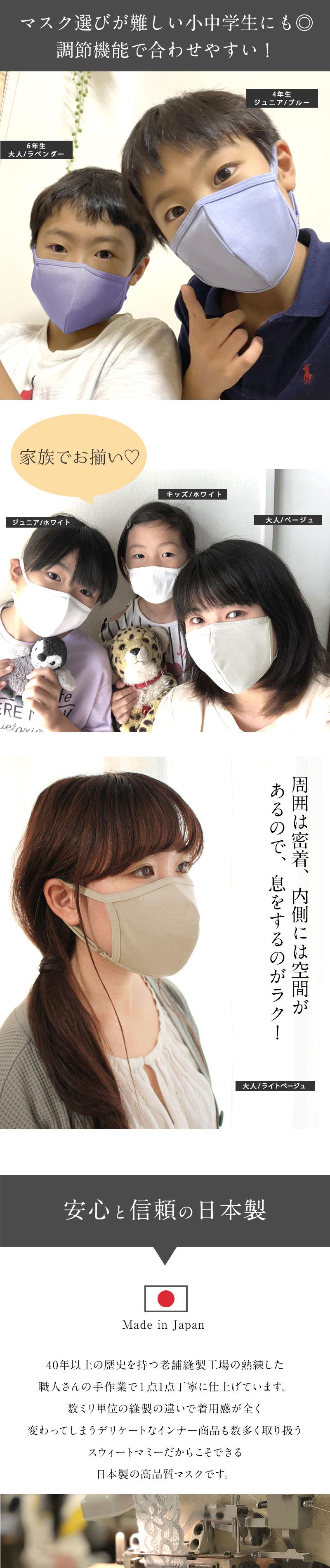 お子様にもピッタリサイズの3Dマスク