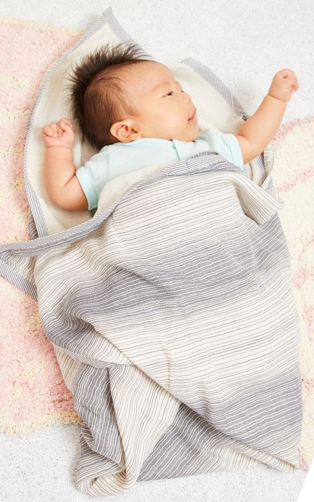 くるっと包まれて赤ちゃんも安心