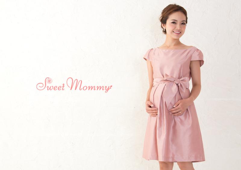 リュクスな日本製授乳服ドレス