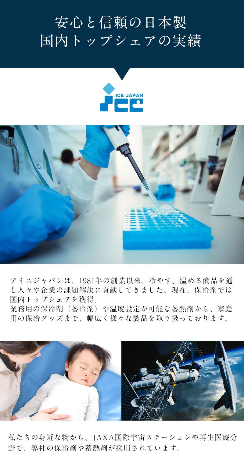 安心と信頼の国内トップシェア 保冷剤専門企業