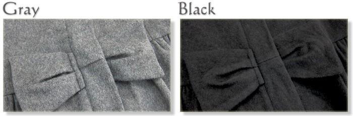 ウール混素材 襟2WAYリボンデザインエレガントママコート ダッカー付き マタニティ/ママ/フォーマル/ママコート