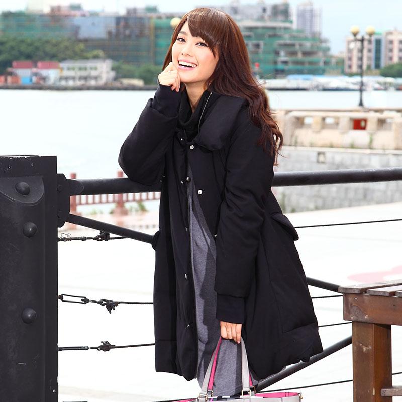 Oversized Collar Mama Coat