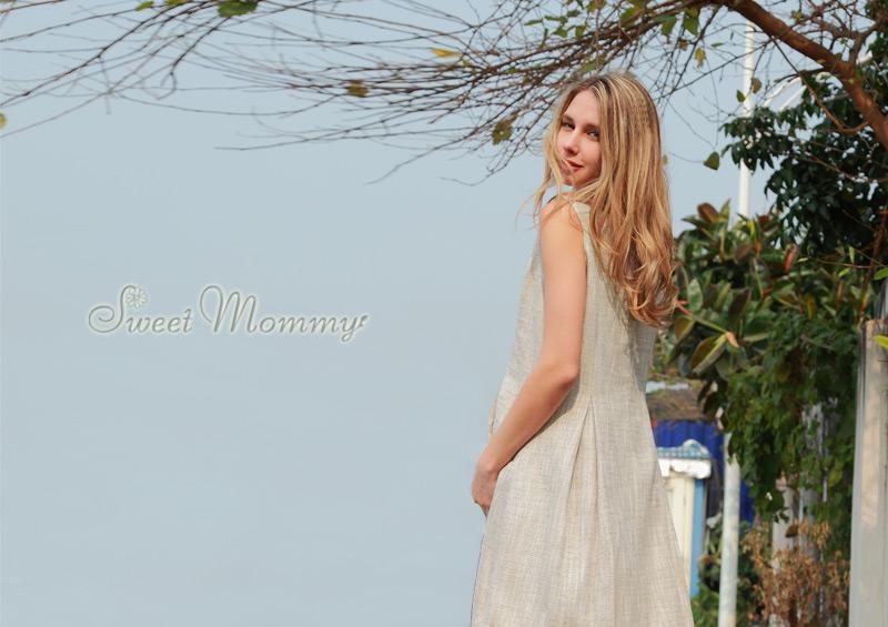 フォーマルなツイードアンサンブルの授乳服 外着用イメージ画像