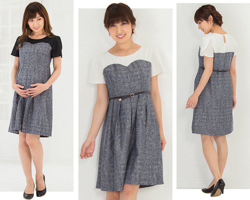 かわいらしい雰囲気の授乳服ドレス