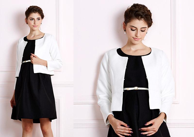 華やかな印象の授乳服ワンピースセット