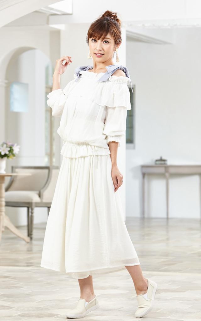 キュートなデザインのセットアップ授乳服