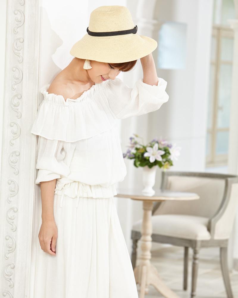 女性らしい雰囲気のおしゃれな授乳服マタニティウェア