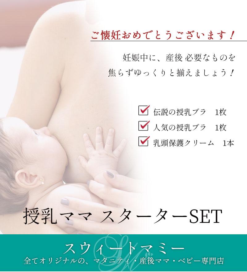妊娠中に産後必要なもの、授乳ママスターターセット