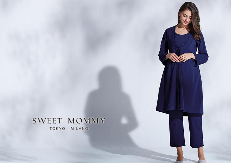 授乳服とマタニティウェアの通信販売専門店スウィートマミーがおすすめするガウン付きのレースエレガントナイティ