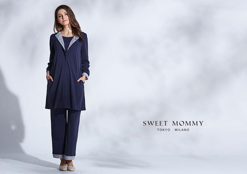 授乳服とマタニティウェアのスウィートマミーがおすすめするレースが上品なマタニティパジャマ