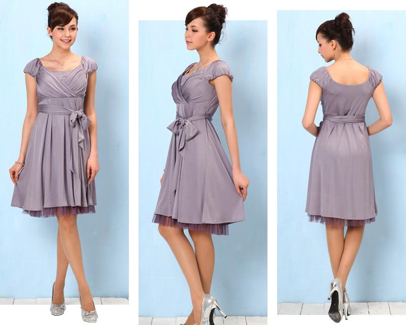 全身どこから見ても美しいシルエットを保つ授乳服ドレス