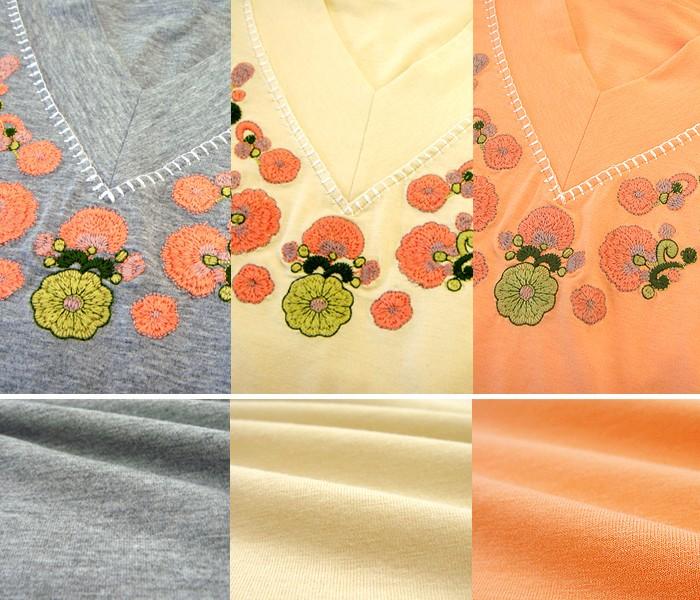 ボヘミアン刺繍ミニワンピース(半袖)
