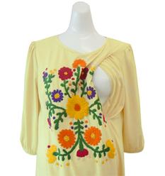 フラワー刺繍チュニック 授乳服&マタニティウェア[so0204]