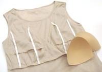 裾レース授乳インナーワンピース (無地) 授乳服