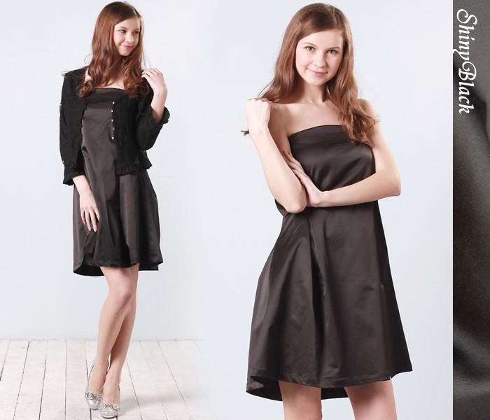 ベアトップ ドレス