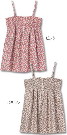 コットンプリント 花柄キャミチュニック 授乳服&マタニティウェア[so1185]
