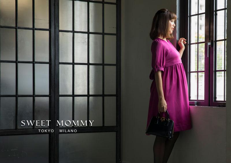 大人可愛い ママでも可愛く着られるマタニティワンピース
