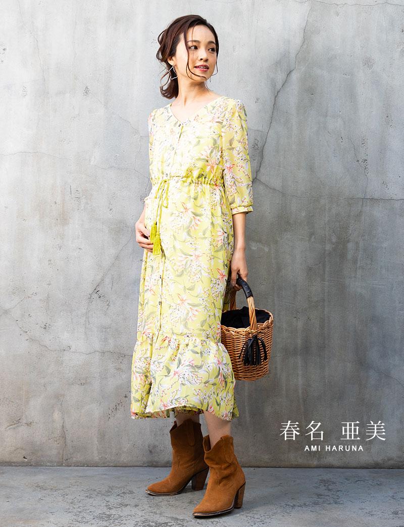 授乳服としても活躍間違いなしのシフォンワンピ