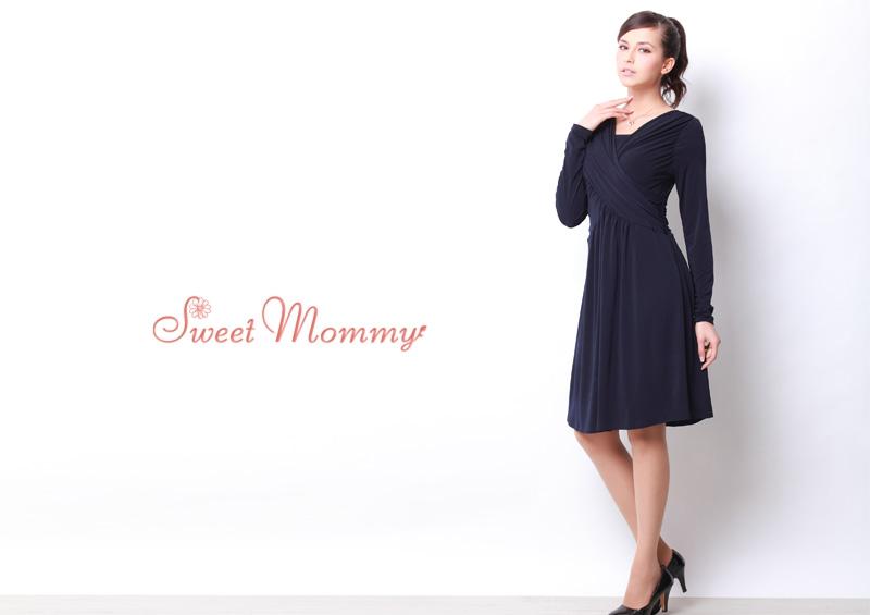 授乳服マタニティウェア通販のスウィートマミーがおすすめする上品なフォーマル授乳服ドレス