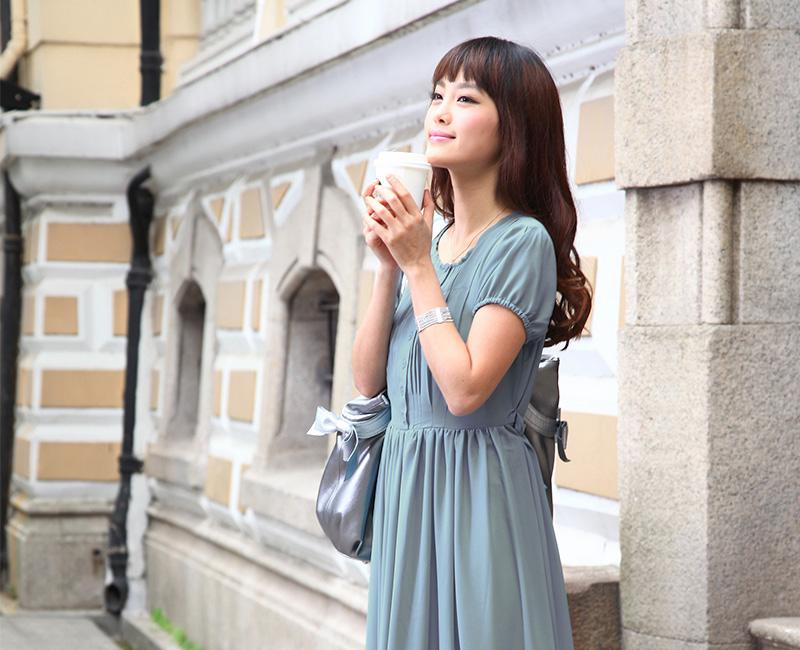 授乳服ロングマキシ丈ワンピのイメージ画像