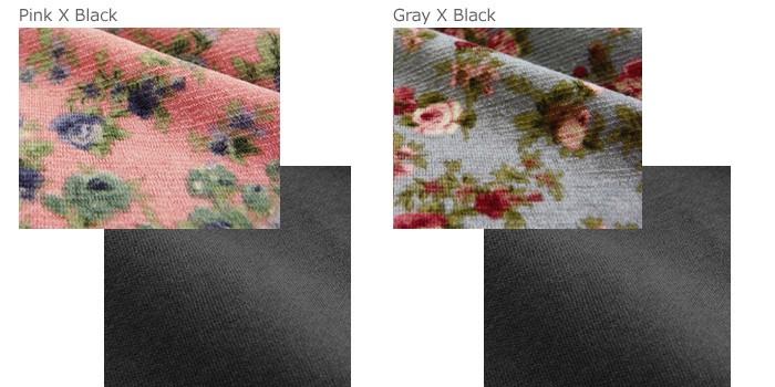 花柄切り替え パフスリーブ 授乳ワンピース(マリエル 長袖) 授乳服/長袖/ワンピース