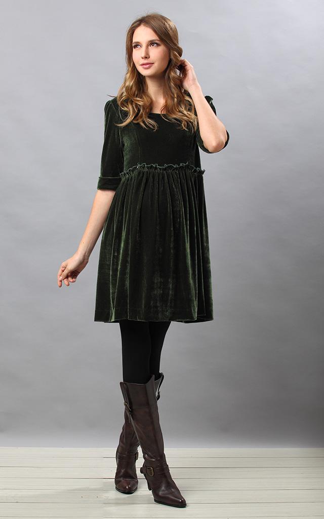 上品な光沢で華やかな授乳服ドレス