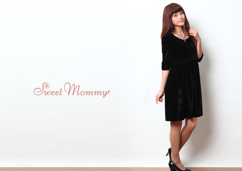 授乳服とマタニティウェアのスウィートマミーがおすすめする上品な授乳服ドレス