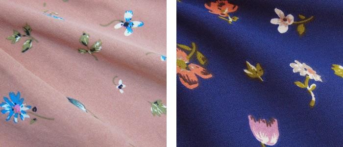 小花柄シフォンタック授乳ワンピース(ベティ) 授乳服/マタニティ/半袖/ワンピース