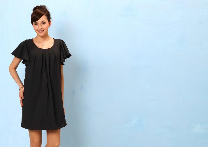 女性らしいシルエットを叶える授乳服ドレス