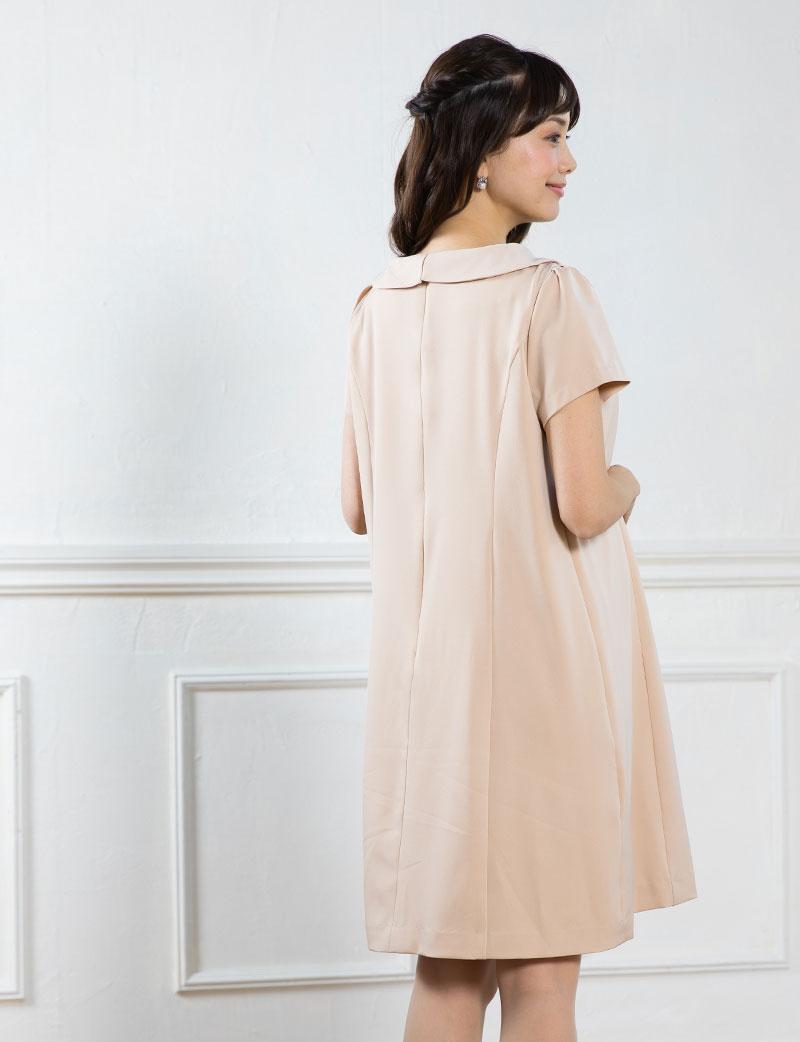 襟の取り外しでイメージチェンジ!着回しに便利なフォーマル授乳服ワンピース
