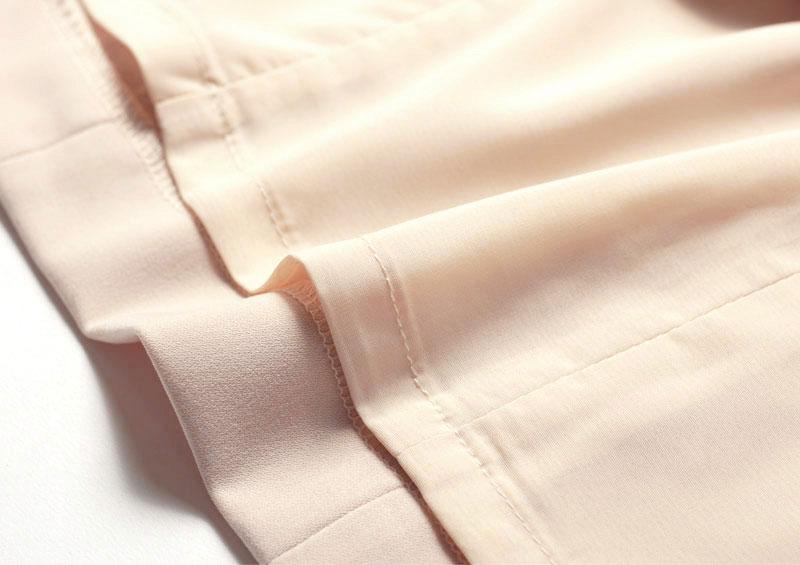 肌触りなめらか裏地付き 薄いカラーでも、透けずに安心