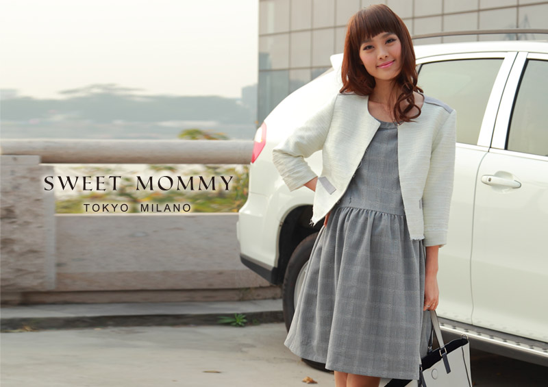 授乳服とマタニティウェアのスウィートマミーがおすすめする美シルエット授乳服ワンピース