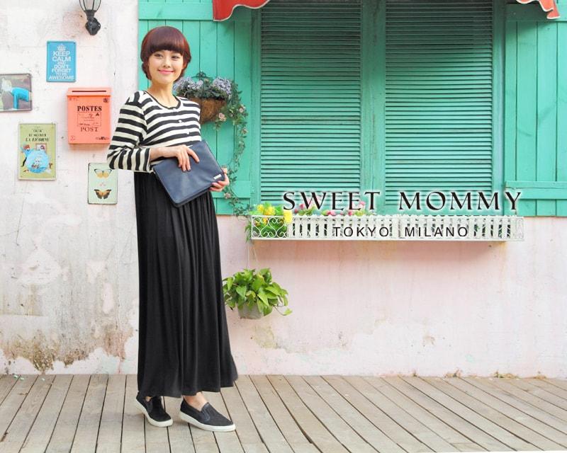 授乳服とマタニティウェアのスウィートマミーがおすすめする重ね着風ワンピース