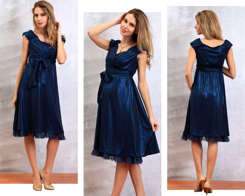 エレガント授乳服ドレスの正面、横、背面